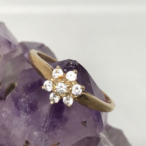 Jewelry - 10K Gold Cubic Zirconia Ring Size 5.75